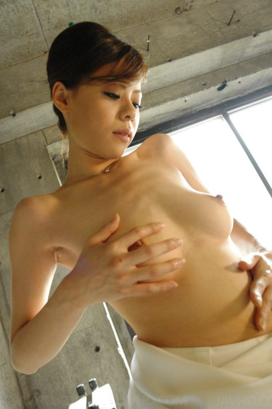 Natsumi Mitsu playing with her boobs